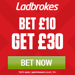 Ladbrokes Promo Code GET30FREE for 3 Free Sports Bets