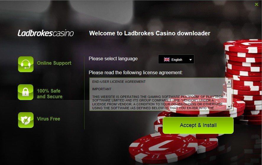 Ladbrokes Casino Installer
