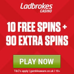 Ladbrokes Casino Promo Code FS100 for 100 Free Spins